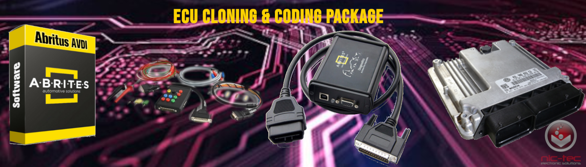 ECU DECODING AND PROGRAMMING PACKAGE